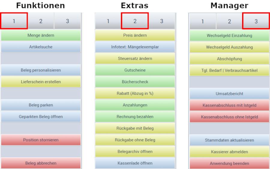 Funktionstasten (Korona-JWWS)