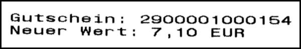 Gutschein-Belege - 03 - Neuer Wert