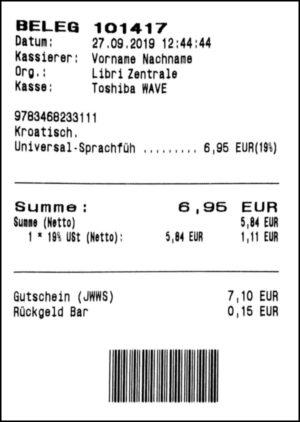 Gutschein-Belege - 05 - Verkaufsbeleg (Einlösung)